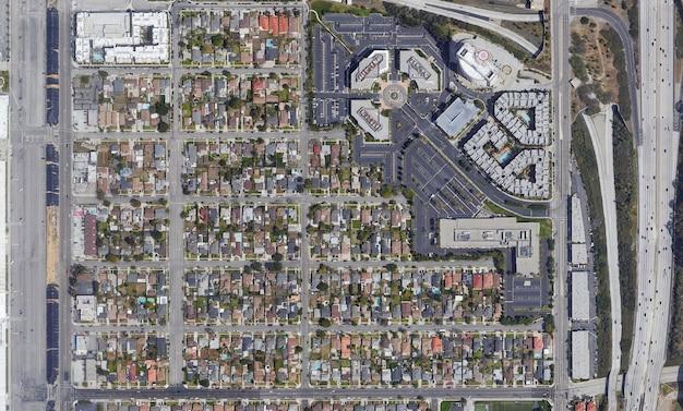 Спутниковая текстура вид сверху над калифорнией
