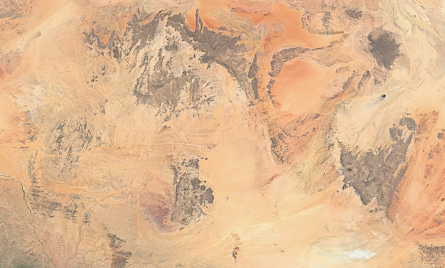 Спутниковая текстура вид сверху над египтом