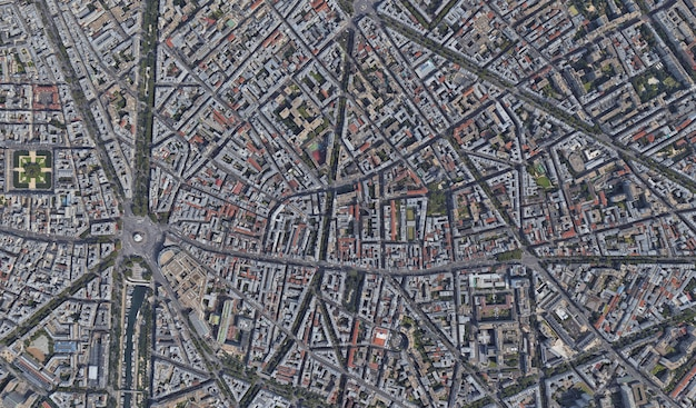 Satellite view texture