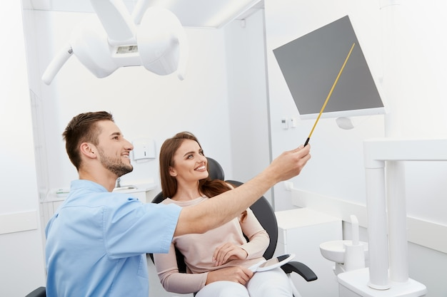 Satisfied patient after dentist session