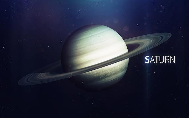 Сатурн - красивое искусство высокого разрешения представляет планету солнечной системы