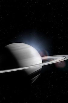 Saturn in the outer space