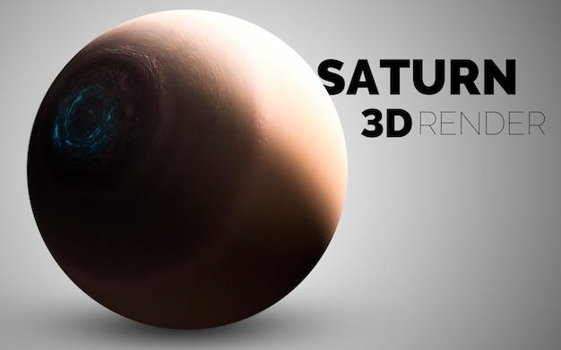 Сатурн. набор планет солнечной системы в 3d. элементы этого изображения, предоставленные наса