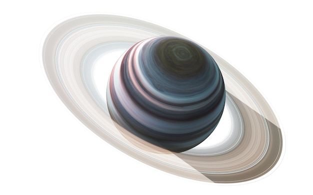Saturn in the space, 3d illustration.