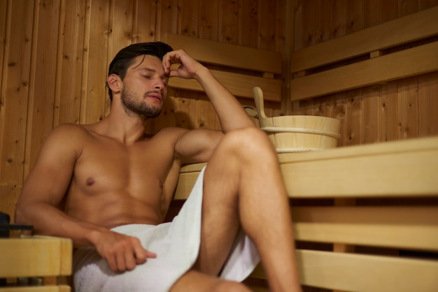 Sauna can clean your body and your mind