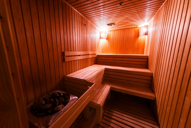 Sauna design from wood.