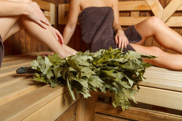 Sauna for relaxation and spa therapy.