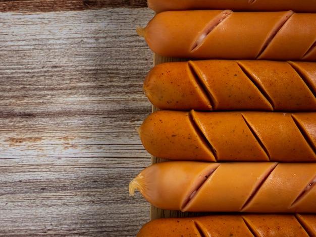 Колбаса крупным планом изображение для еды или концепции здоровья