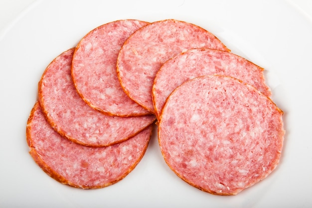 Sausage sliced sausage for pizza