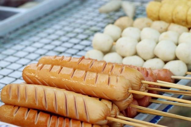 Sausage at street food