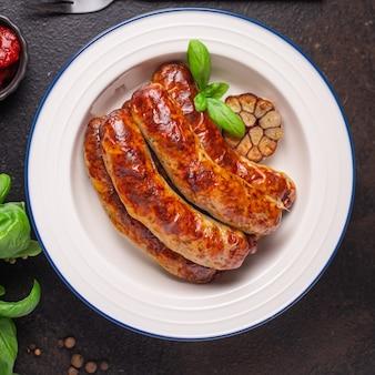 ソーセージセイタン植物性タンパク質ビーガン肉なし大豆ベジタリアン小麦古典的な味またはスナック