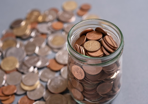 Save money for retirement and account banking concept