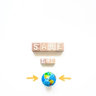 Save the planet inscription