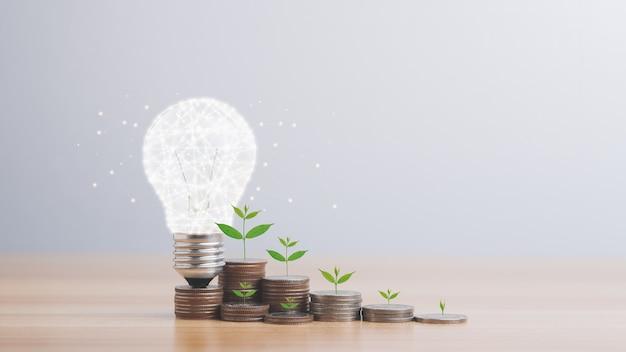돈 소득 개념을 절약하기 위한 에너지 및 돈 절약 아이디어
