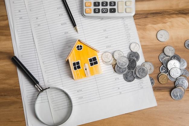 투자 부동산 집에 대한 저축.