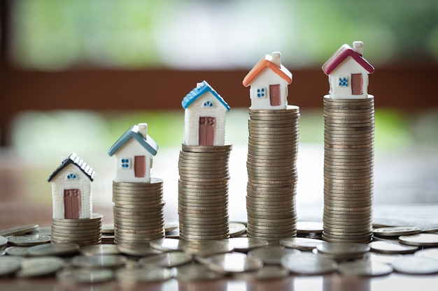 Saving money concept, growing business, the concept of financial savings to buy a house.