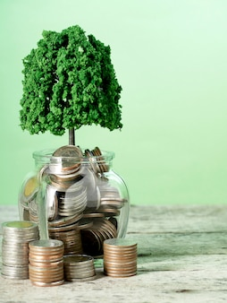 Saving money growing business concepts