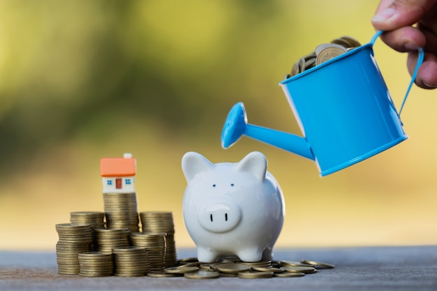 Saving money to invest in buying a home or real estate in the future.