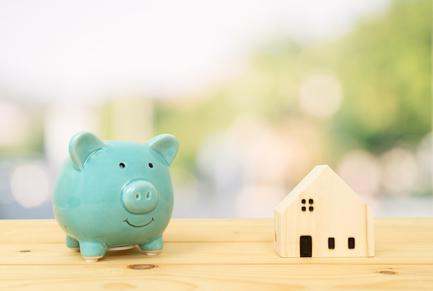 Savings plans for housing, loans market concept