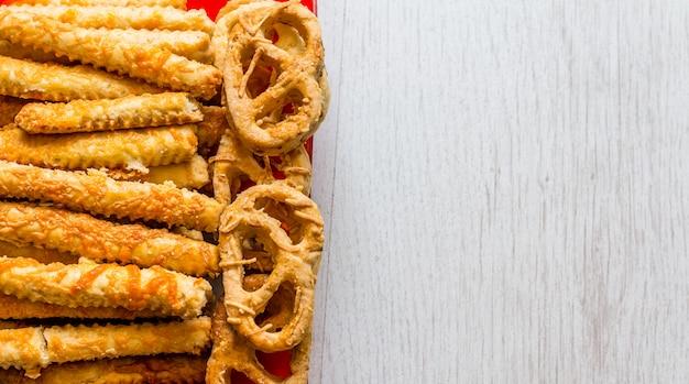 Savory pretzels and sticks