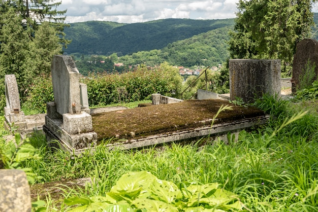 Saxon cemetery, located next to the church on the hill in sighisoara