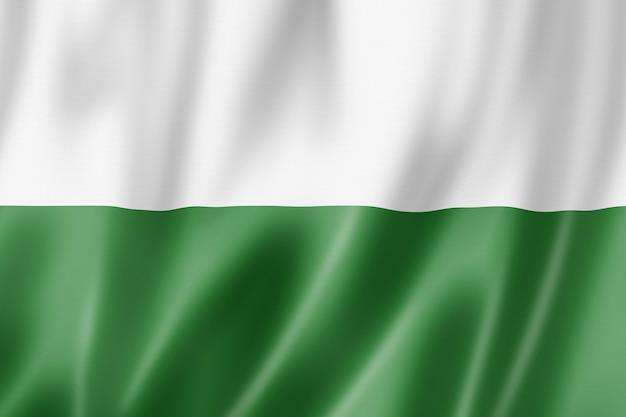 작센 주 국기, 독일 흔들며 배너 컬렉션입니다. 3d 일러스트레이션