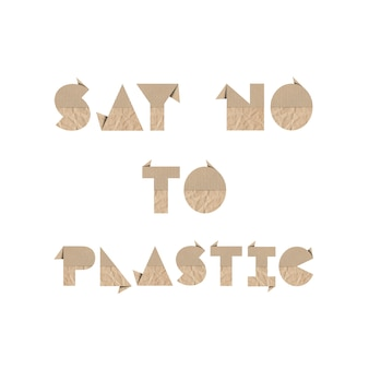 Say no to plastic with brown origami paper