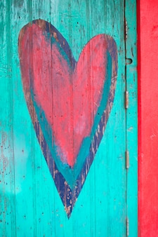 クローズアップ、ハート型、ドア、sayulita、nayarit、メキシコ