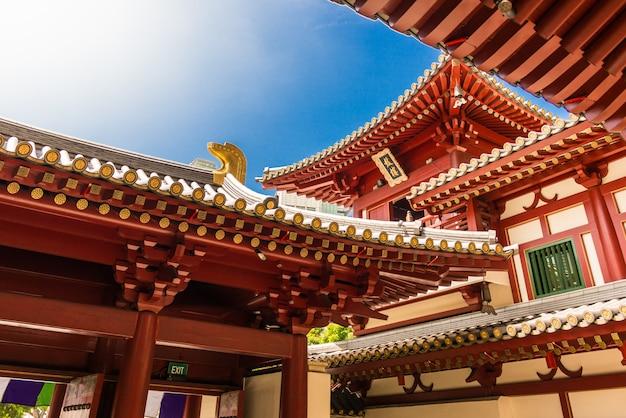 シンガポールのsbuddhaの遺物歯寺院チャイナタウン