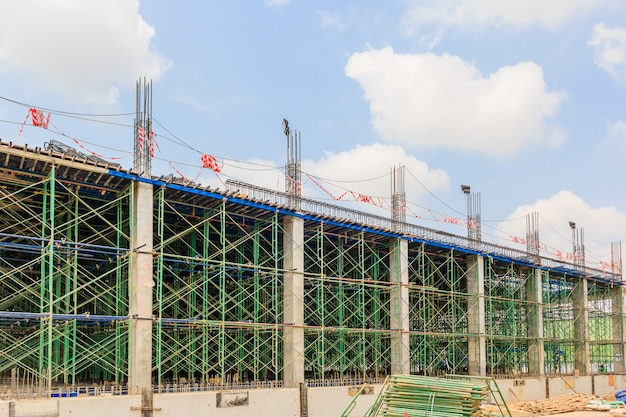 Scaffolding used as the temporary structure to support platform, form work and structure