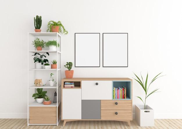 Scandinavian interior - artwork backrgound