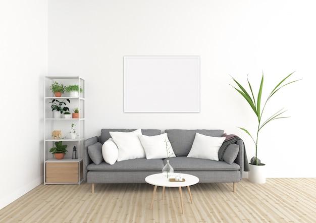 Scandinavian interior - horizontal frame - art background