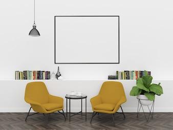 Scandinavian interior - horizontal frame mockup