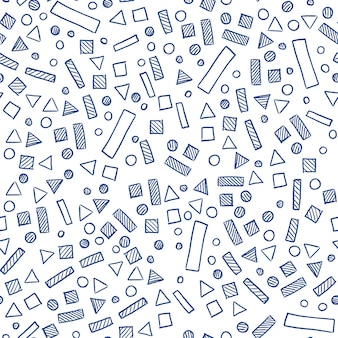 Scandinavian simple seamless pattern with rectangles, triangles, circles and squares. geometric pattern for paper and textile.