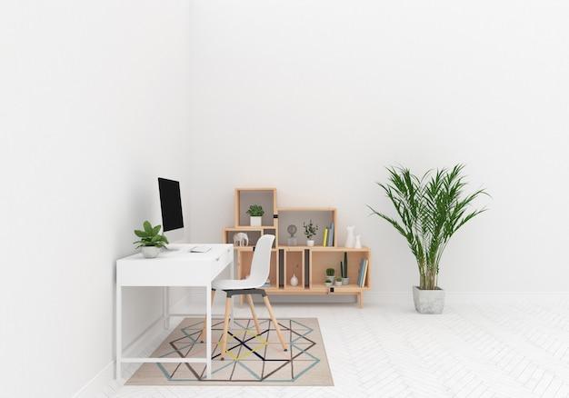 Scandinavian workspace artwork background