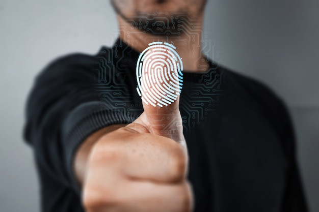 Scanning a fingerprint for identification