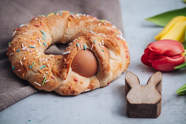 Scarcella, a traditional pastry for easter holidays in puglia region