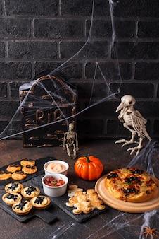 ハロウィーンパーティーのための怖い前菜