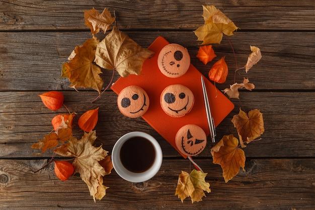 Scary halloween pumpkin table