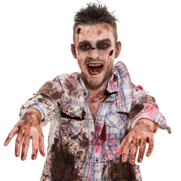 Cosplay di zombie spaventoso