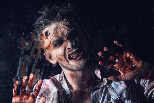 Scary zombie costume cosplay