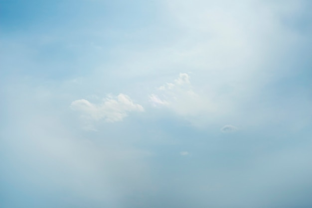 Scattered cloud clusters in a blue sky, blue sky background with white clouds,
