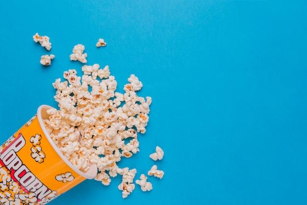 Scattered popcorn box