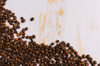 Scattering coffee grains