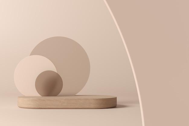 Сцена для отображения продукта. 3d рендеринг