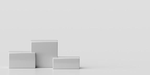 제품 광고 3d 렌더링을위한 최소한의 기하학적 모양 연단의 장면