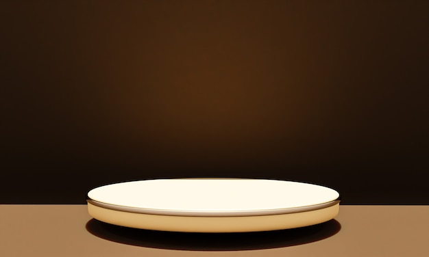 Сцена с подиумом для макета презентации в стиле минимализма с копией пространства, 3d визуализация абстрактного фона
