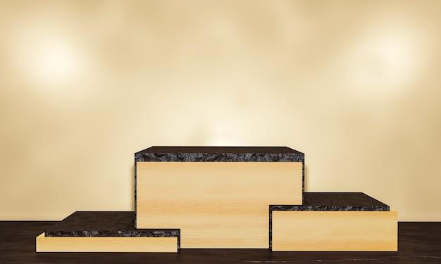 Сцена с подиумом для презентации в минималистском стиле 3d визуализации абстрактный фон дизайн