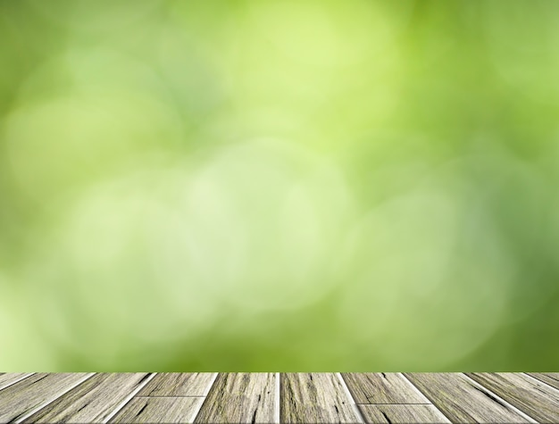 Scene  wood  background bokeh
