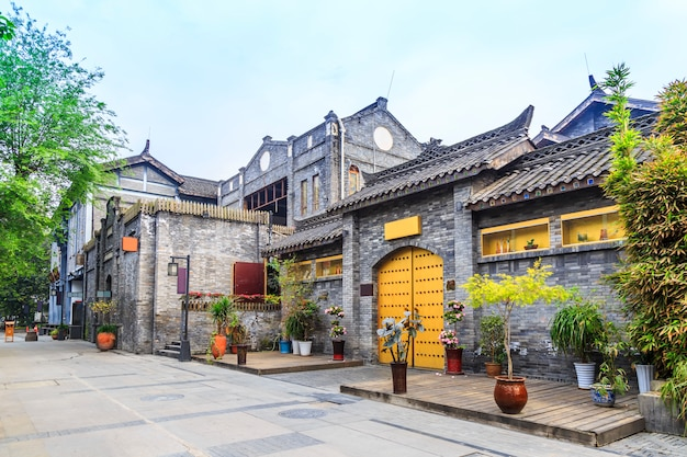 Scenery houses antiques chinese architecture